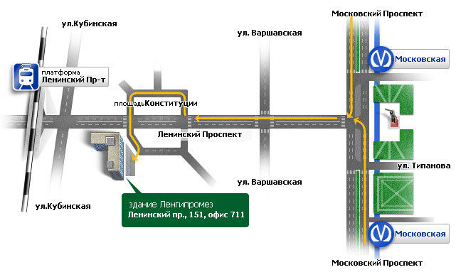 Схема проезда в офис Мегагруп